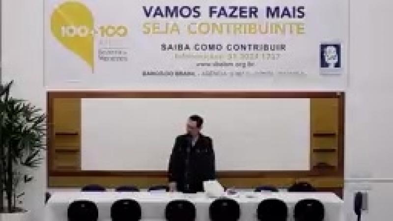 Como agir perante a miséria social - Início às 20h - Palestrante José Frederico Cunha - SBEBM