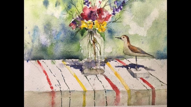 En Plein Air Watercolor Flower Painting- with Chris Petri