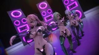 [MMD]Succubus Vocaloid (ハク.ミク.ルカ.GUMI) - KILLER LADY