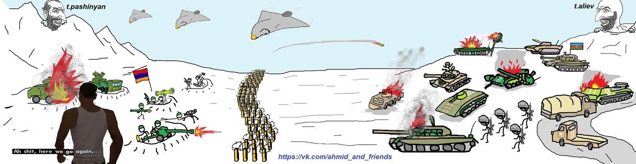 Война в Карабахе. Соотношение сил.
