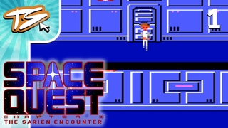 MY FIRST EVER SIERRA GAME!! - Space Quest 1: The Sarien Encounter (BLIND) #1