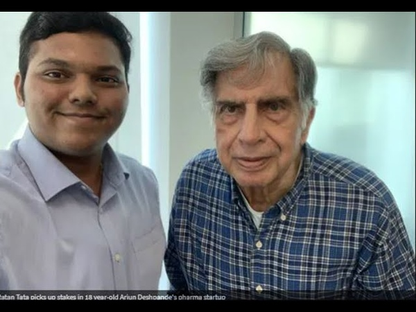 Watch How Arjun Deshpande impressed Ratan Tata with his pharma startup