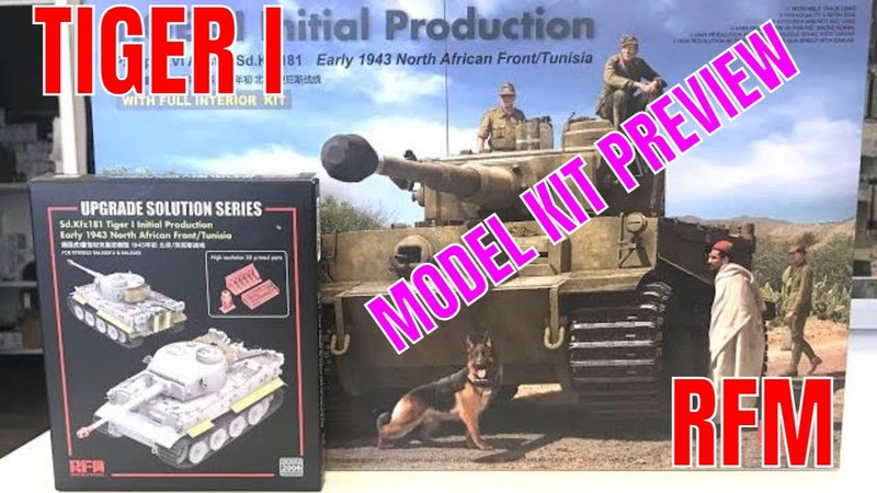 Tiger I intial production Ryefield Models 1 35 full interior model kit preview