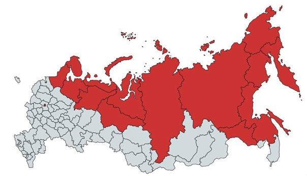 На территории, выделенной красным, живет столько ж...