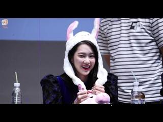 · Fancam · 180922 · OH MY GIRL (Jiho focus) · Mokdong Fansign ·