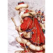 Набор для вышивания `Дед Мороз с игрушками` (Энн Ивонн Гилберт)