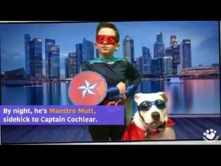 Это самолет. Это капитан Кохлеар и Маэстро Мутт! питбуль герой