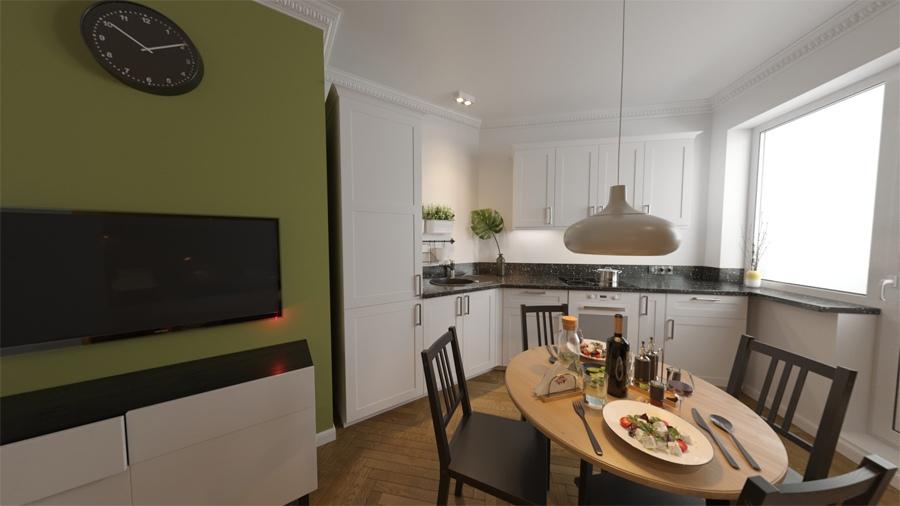 Проект квартиры-студии нестандартной планировки 33,5 м (34,5 с балконом с коэфф.