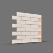 МАТТОНЕ (кирпичики) 3D панель облицовочная (бежевые швы)