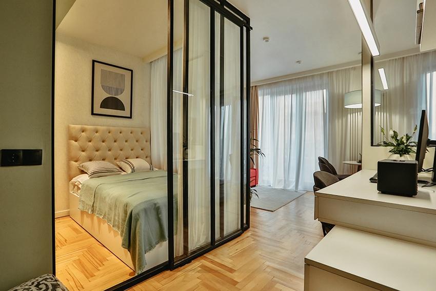 Дизайн квартиры-студии 30 м в Тбилиси.