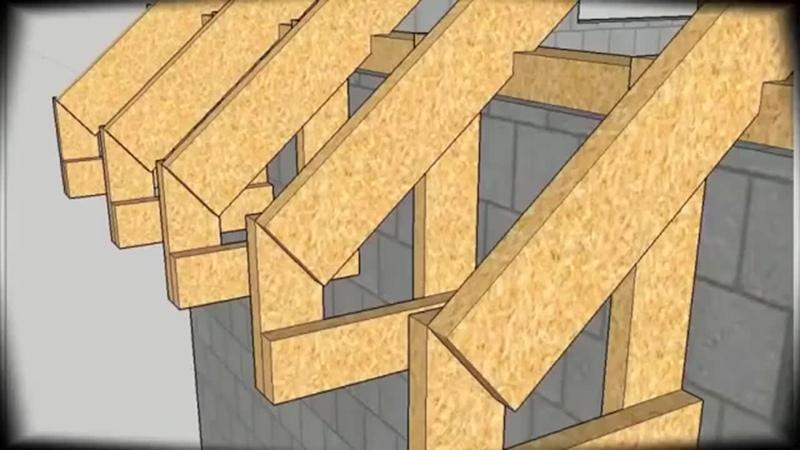 Процесс строительства двускатной крыши