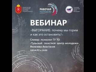 2 вебинар в рамках регионального этапа Всероссийского форума рабочей молодежи