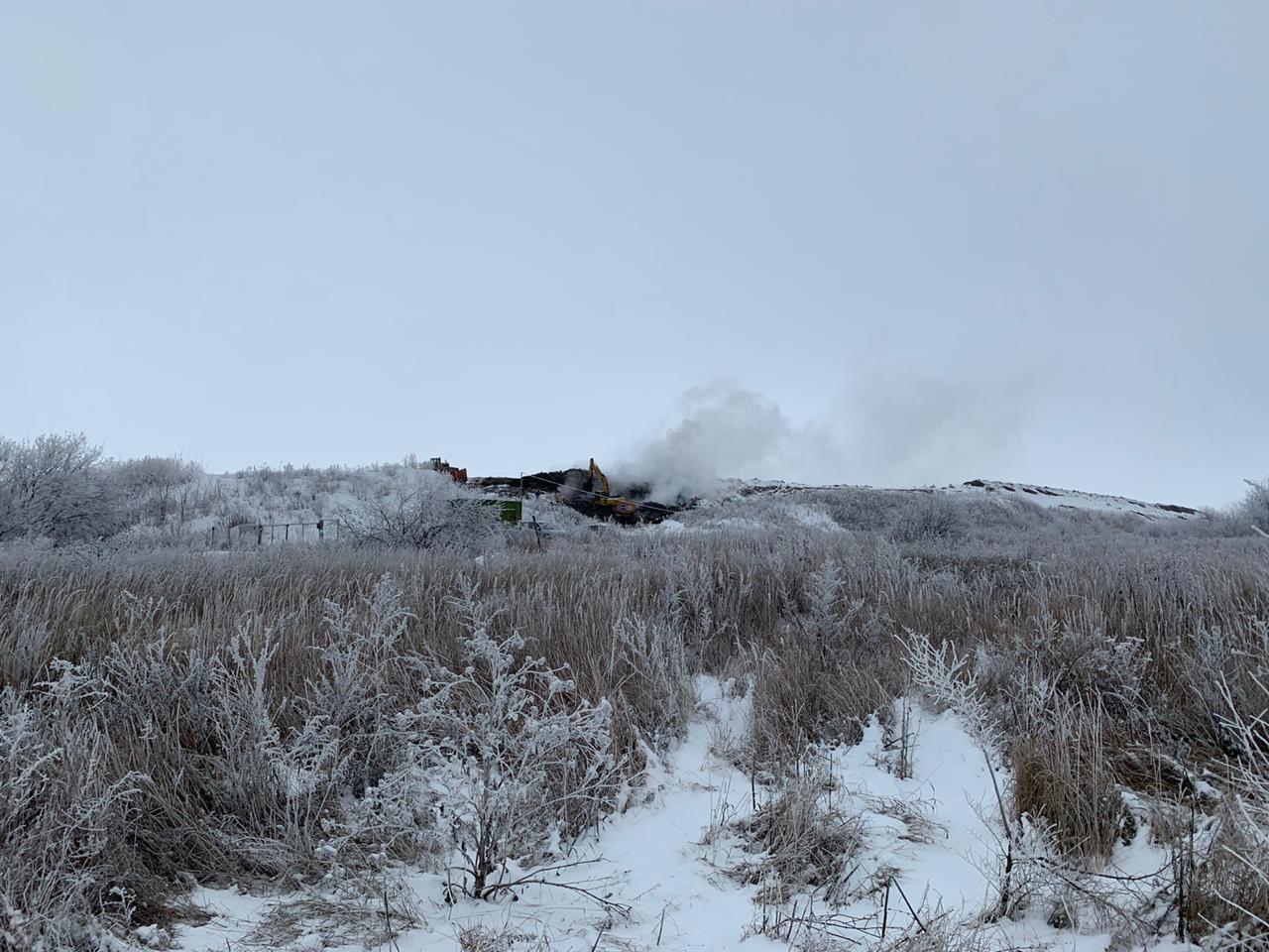 """В Тамбовской области горит крупнейший мусорный полигон """"КомЭк"""""""