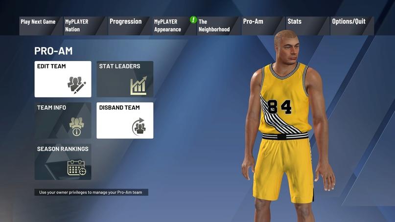 Как создать команду Pro-Am в NBA 2K21, изображение №12