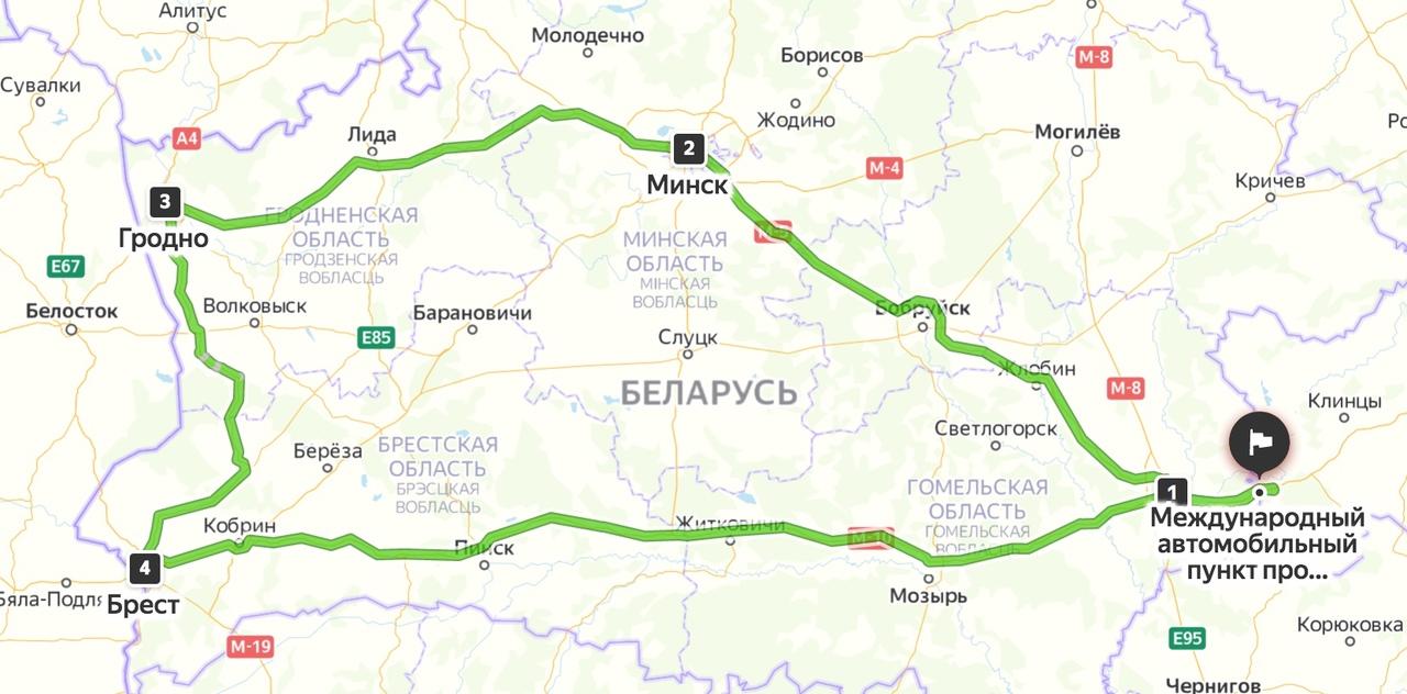 Белоруссия на авто с Урала, апрель 2021