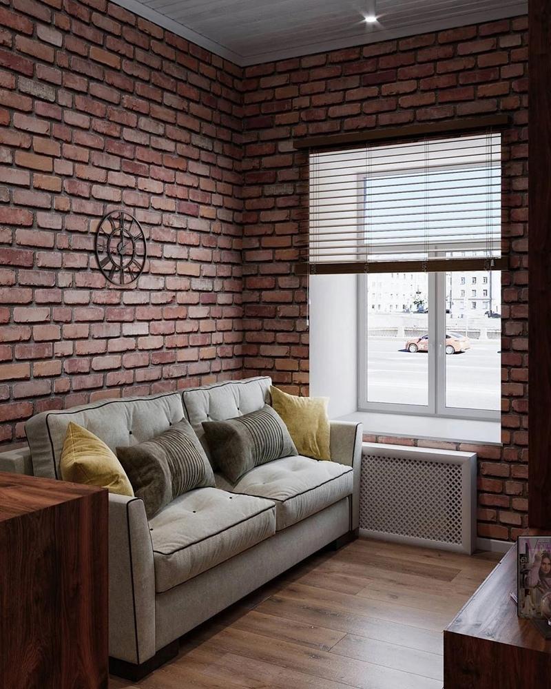 Проект маленькой гостевой студии 18 кв.