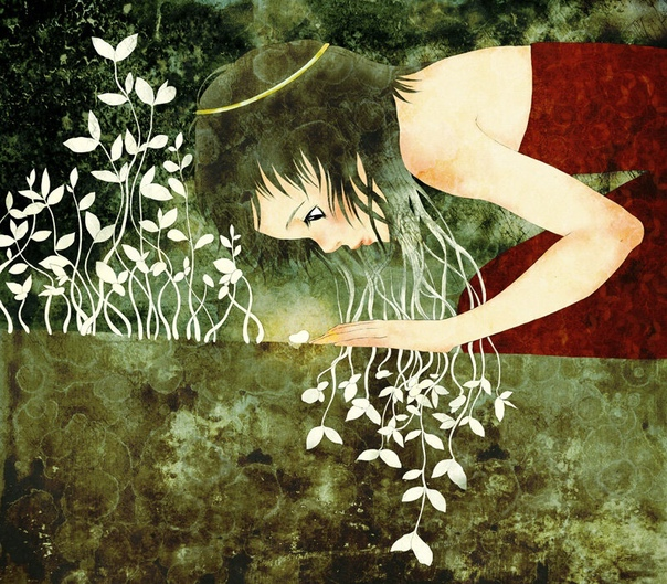 Молодая художница Moony hoa Le из Вьетнама создает иллюстрации для детских и подростковых книг, комбинируя графику, фотографии и мангу В творчестве художницы представлены разные жанры цифрового