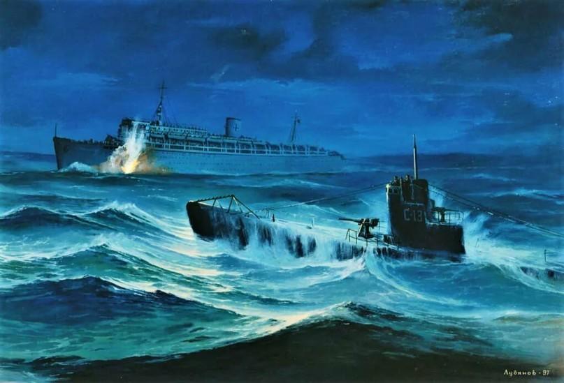 Атака подводной лодкой «С-13» транспортного судна (лайнера) «Вильгельм Густлов», 30.01.1945 г.