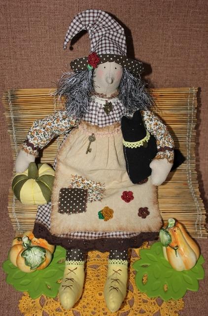 Как сшить куклу ведьмочку на Хэллоуин своими руками, выкройки для тряпичной куклы ведьмочки,ведьма на Хэллоуин своими руками,