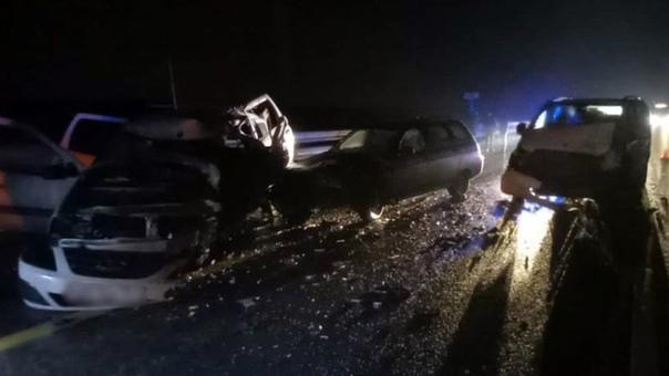 На трассе под Новочеркасском трое мужчин погибли в...