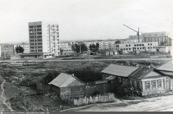 Строительство 18 микрорайона. 1975 год 9-этажка - это дом по ул. Пушкарёва 50