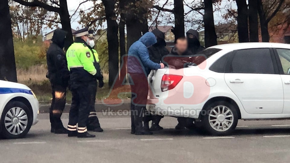 """Задержание водителя в Беломестном около АЗС """"Газпром"""". Подробности пока неизвестны Белгород"""