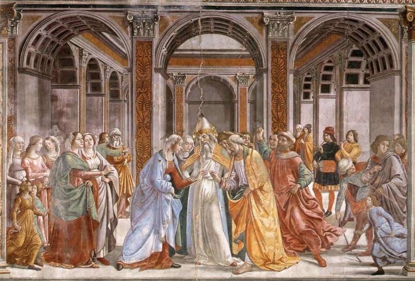 Брак Богородицы, 1486-90 автора Доменико Гирландайо