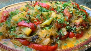 АЙЛАЗАН -самое вкусное и простое блюдо из овощей: баклажан, перцев,помидор...