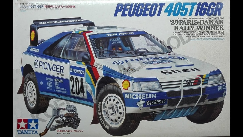 Обзор Peugeot 405 T16GR 1989 PARIS DAKAR RALLY WINNER Tamiya 1 24 сборные модели
