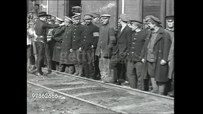 Гражданская война. Распространение листовок (1918 г.) среди бывших русских военнопленных.