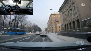 Autonomous winter driving on the streets of Moscow