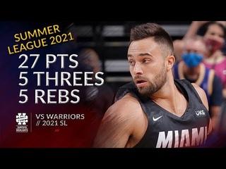 Max Strus 27 pts 5 threes 5 rebs vs Warriors 2021 Summer League