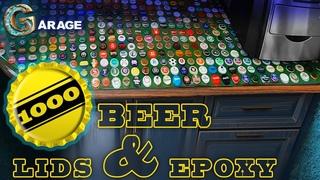 1000 Beer lids &Epoxy. 1000 Пивных крышек и эпоксидная смола