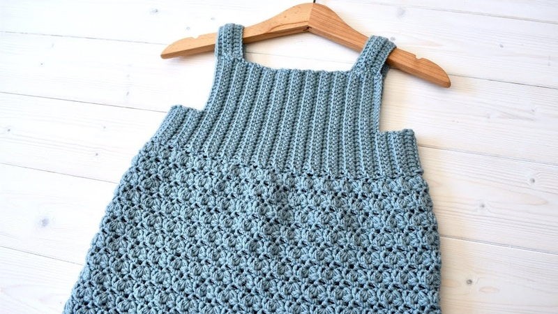 How to crochet a sweet baby children's dress the Mia dress