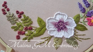 Garden Embroidery  Bouquet of flowers  easy stitches   Floral Still Life