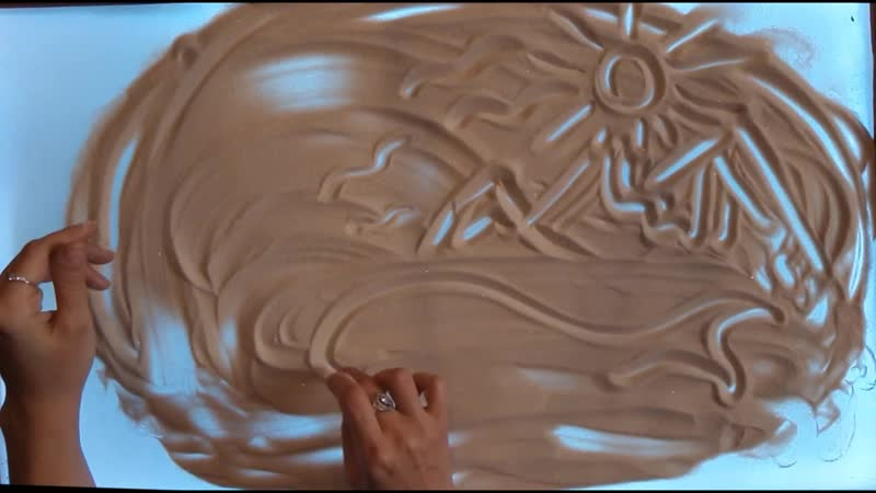 Релаксация Дельфин Аврора Мирт картина песком Евгений Граф саксофон Геннадий Жуган клавищные