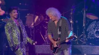 "Queen+Adam Lambert Perform ""Crazy Little Thing Called Love"" At Fire Fight Australia On 2/16/20"