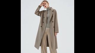 2020 кашемировое пальто женское двубортное с высоким уличным отложным воротником длинное женское осенне зимнее шерстяное пальто