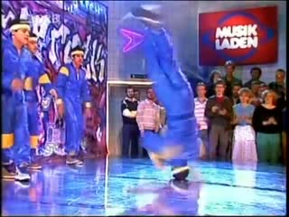 Rock steady crew - uprock (in german tv-show, 1984 or 85)