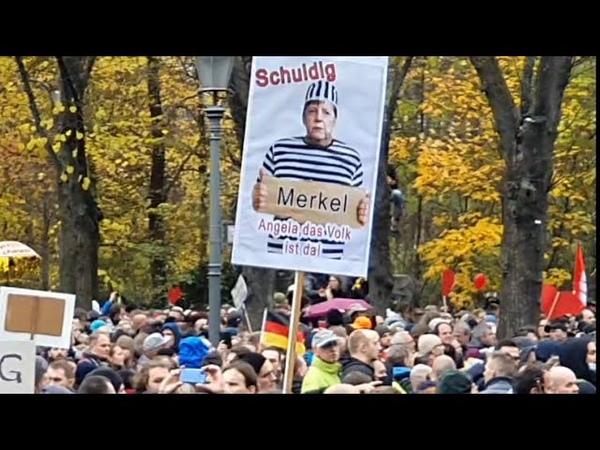 18 11 2020 Митинг в Берлине Меркель ждёт Нюрбенский Трибунал