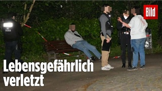 Mann sticht nachts im Park auf Kontrahenten ein |Berlin