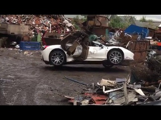 Ferrari 458 seized and destroyed by the police