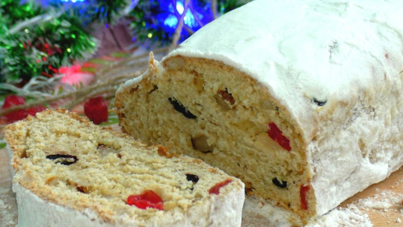 ШТОЛЛЕН РЕЦЕПТ 🎅 Німецький Різдвяний Штоллен 🎅 Як приготувати оригінальний штоллен