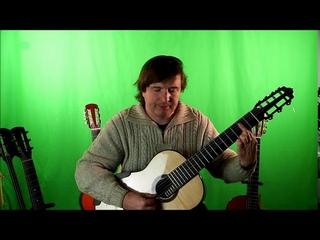 Семиструнная гитара. Урок 3. красивый аккомпанемент.  2-Часть (Мохнатый шмель).