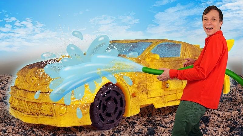 Роботы Трансформеры игры онлайн Бамблби ремонт и прокачка Автобота Новый сборник видео машинки