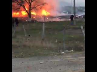 Взорвалась машина в Дагестане