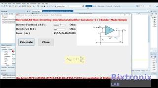 Creating Non Inverting Op Amp Calculator Easy C++Builder  Ep7
