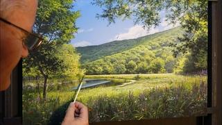 Playing sun (best summer landscape) Artist-Viktor Yushkevich. #9 picture in 2020