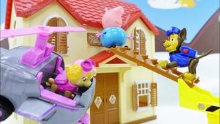Peppa Wutz Video auf Deutsch. Die Paw Patrol rettet Papa Wutz. Spielzeug Video