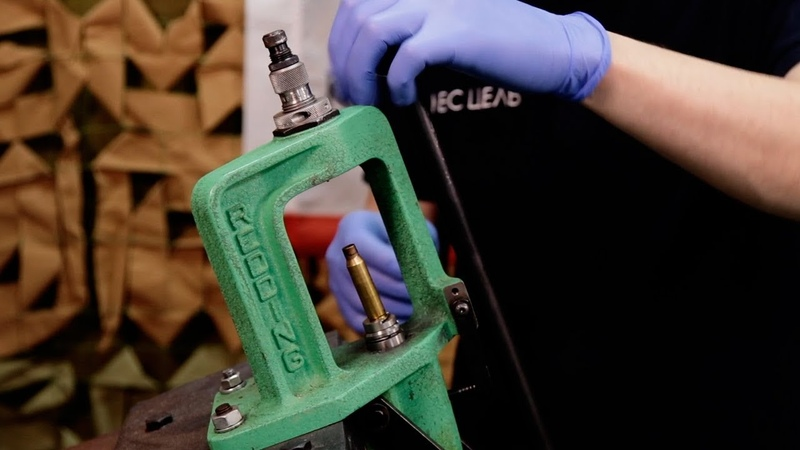 Подготовка гильзы выбор бушинга настройка матрицы чистка гильзы